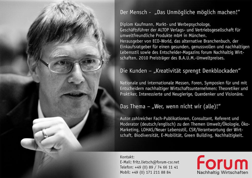 Fritz Litsch Rednerkarte